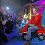 The Toy Show's 'meet and greet' session took an unusual turn earlier... (Image: Julien Behal/PA Wire)