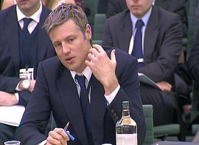 Goldsmith giving evidence today