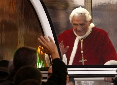 The Pope greeting the faithful in Rome last week