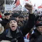 Protesters shout anti-Putin slogans (AP Photo/Mikhail Metzel)