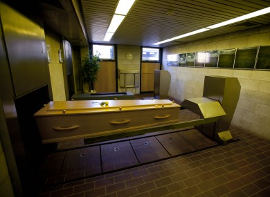 File photo inside a crematorium in the Netherlands