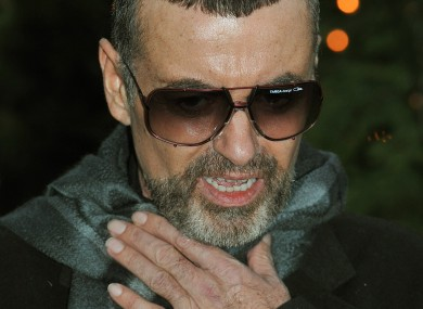 George Michael outside his home today