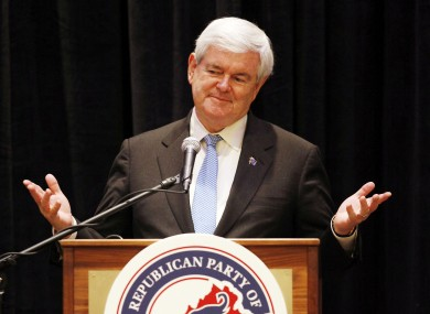 Gingrich, photographed in Virginia last week.