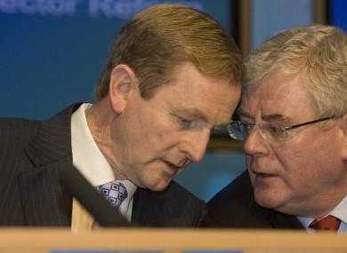 Taoiseach Enda Kenny and Tánaiste Eamon Gilmore