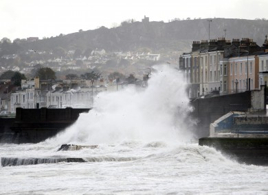 File picture of high waves at Dun Laoghaire in Dublin