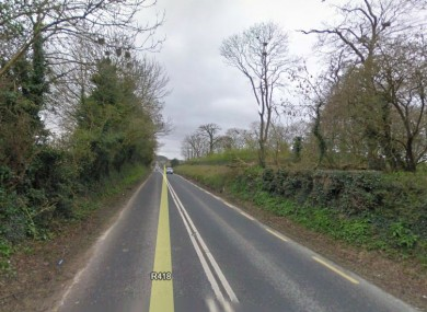 Part of the R418 road in Kildare