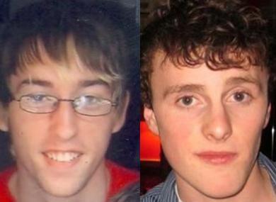 Undated images of Darren Sherlock, left, and Caolan Mulrooney.