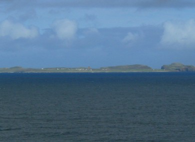Tory island as seen from the Donegal coastline