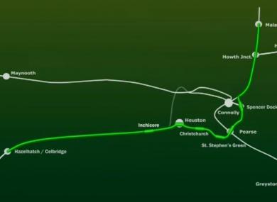 The proposed DART Underground link