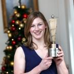 Nina with her award.