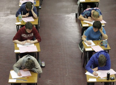 Many students take private grinds before the Leaving Cert exams