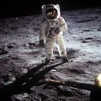 Buzz Alrin is shown in an iconic image captured by Armstrong as the astronauts explored the moon's Sea of Tranquility. (NASA)