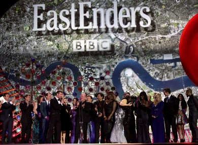 Eastenders cast members at the National Television Awards in London last year