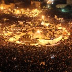 Crowds celebrate in Cairo. (AP Photo/Tara Todras-Whitehill)