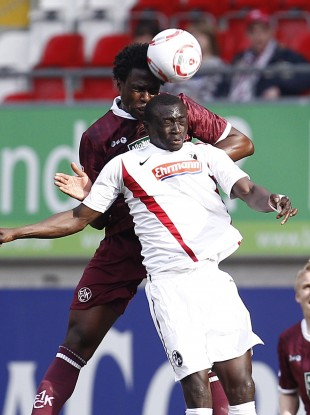 Papiss Demba Cisse plays with Freiburg in the Bundesliga.