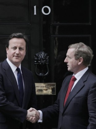 The two leaders meeting in London in April 2011.