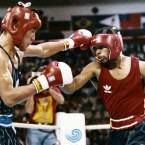 Korea's Park Si-hun, left, won gold in the light middleweight against USA's Roy Jones in the Seoul Olympics. It turned out Jones had landed 86 punches to Park's 32 and two of the three judges at the bout were later banned for life.