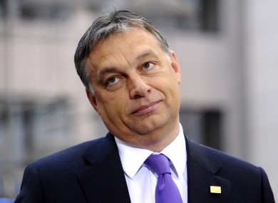 Viktor Orban has come under EU pressure for passing constitutional reforms which lessen the independence of the central bank and the judiciary.