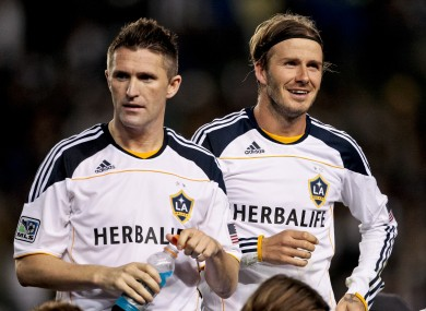 Beckham will continue to line out with Ireland skipper Robbie Keane.