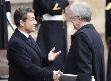Sarkozy and Monti pictured last November
