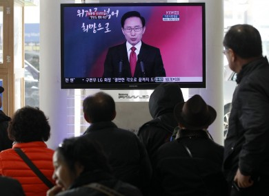 South Korean president Lee Myung-bak gives a televised New Year's address.
