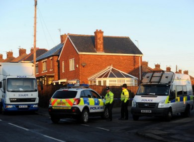 Police at the scene of the shootings at Peterlee, Durham on New Year's Day.
