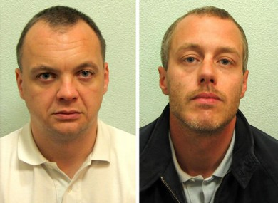 Undated Crown Prosecution Service handout photos of Gary Dobson (left) and David Norris.
