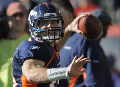 Tim Tebow's 'Hail Mary' pass - which led to an 80-yard return - is now the biggest sporting event in Twitter history.