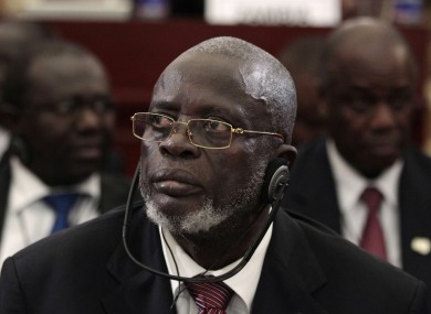 Malam Bacai Sanha listens during a session of the 17th African Union Summit at the Sipopo Conference Center, outside Malabo, Equatorial Guinea in June.