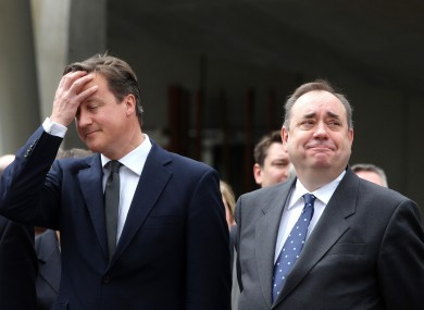 British PM David Cameron and Scottish First Minister Alex Salmond pictured in June 2011.