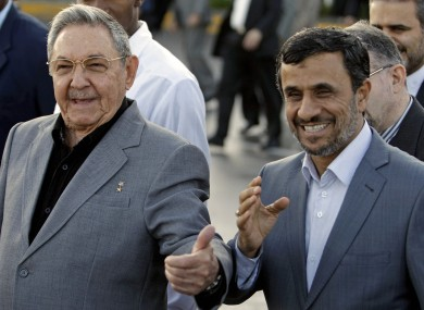 Iran's President Mahmoud Ahmadinejad, right, with Cuba's President Raul Castro in Cuba earlier this month.