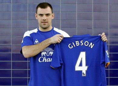 Gibson is unveiled by the club today.