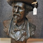 A bust of William 'Buffalo Bill' Cody, by French sculptor Jean Georges Pierre Achard.