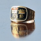 A Nelson mourning ring, one of 500 made to commemorate the death of Admiral Lord Nelson - this one was owned by Surgeon Beattie who attended Nelson on the Victory as he lay dying.