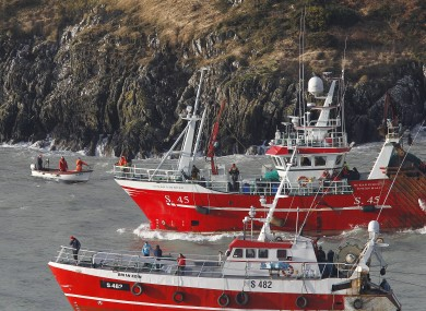 Trawlers and small boats took part in the search off the coast of Union Hall in west Cork yesterday.