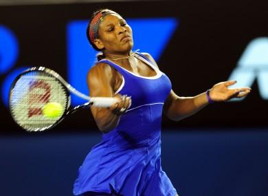Serena Williams: cruised through.