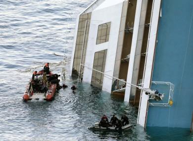Italian naval divers continue to search the Costa Concordia for survivors today.