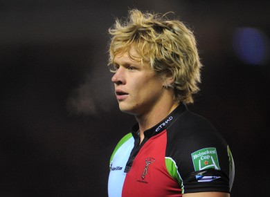 Harlequins' Matt Hopper, one of five new faces added to the England Saxons squad today.