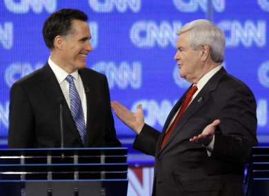 Polls show Gingrich (right) closing in on Romney (left) in South Carolina.