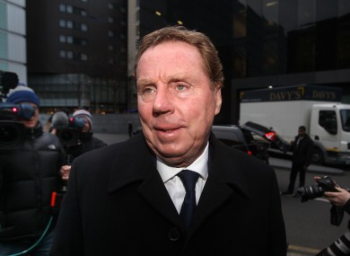 Harry Redknapp arrives at court this morning.