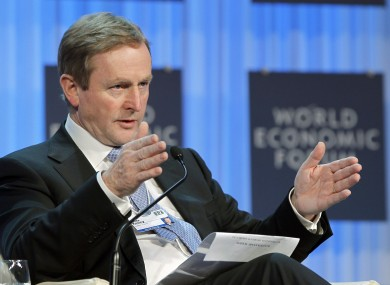 Kenny during a session at the World Economic Forum yesterday.