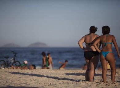 Women on the Copacabana beach in Rio de Janeiro, Brazil, earlier this week.