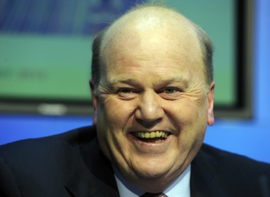 Michael Noonan laughing at something unrelated last November.