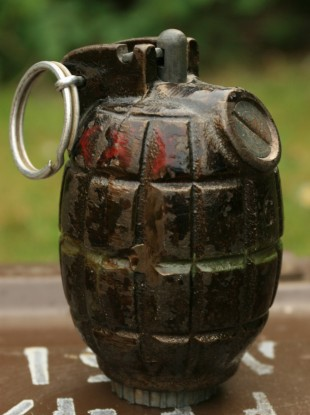 A Mills grenade similar to those discovered in Sligo