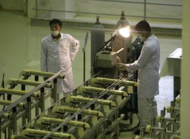 File photo of a Iranian uranium facility in 2009.