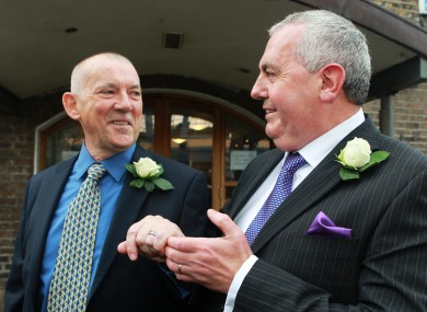 Nicholas Nelson and Thomas Cahalan entered a civil partnership on 5 April last year - the second male couple to do so in Ireland