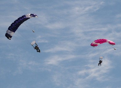 File photo of skydivers.
