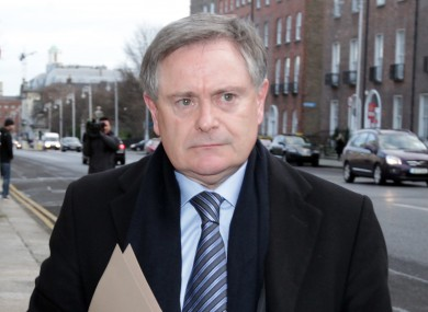 Brendan Howlin arriving at a meeting of the Cabinet yesterday morning