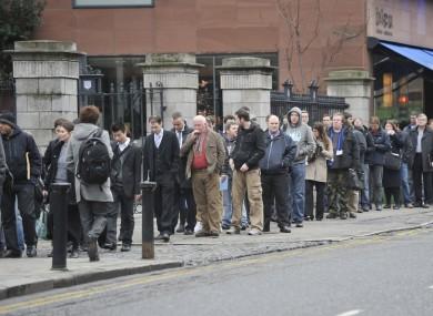 A jobs fair in Dublin earlier this month.