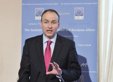 Martin speaking at the IIEA today